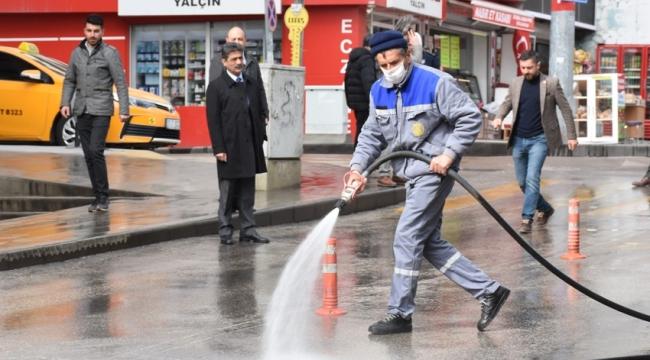 Cadde ve sokalar yıkandı, eczaneler ilaçlandı