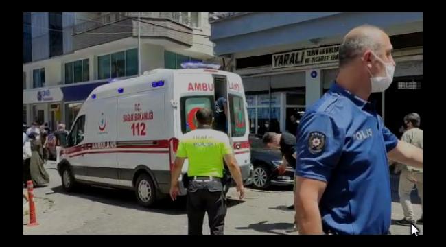 Samsun'da hareketli dakikalar, banka önünde pompalı saldırı