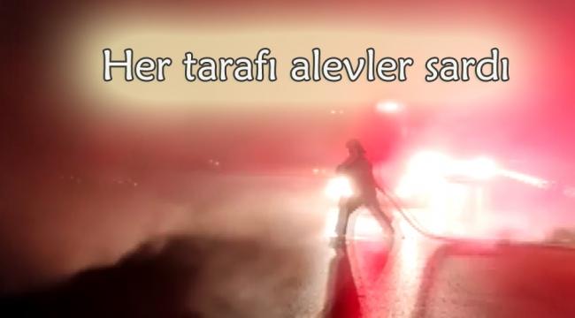 Kırıkkale'de tuğla yüklü tırda yangın
