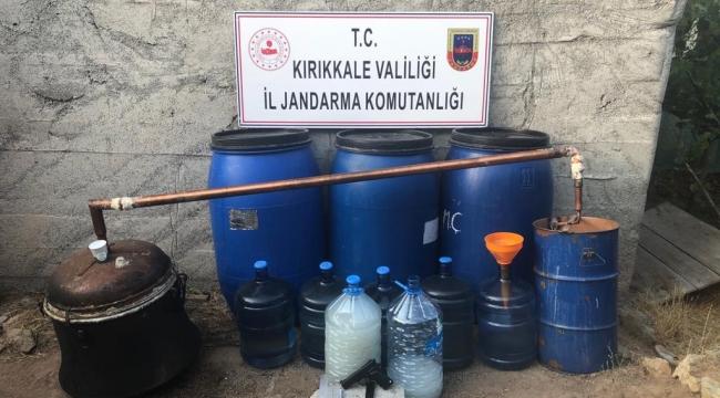 Sulakyurt'ta içki imalathanesine jandarma baskını