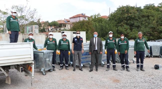 Yahşihan'da Çöp Konteynerleri Yenilendi