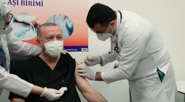 Son Dakika...! Cumhurbaşkanı Erdoğan aşı oldu