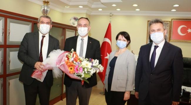 """""""Çevre Günü"""" Nedeniyle Belediye Başkanı Saygılı'ya Ziyaret"""