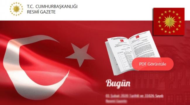 Atama kararnamesi Resmi Gazete'de